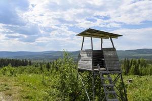 Moose hunting watchtower. photo
