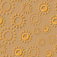 vector seamless pattern sun simple isolated hand drawn lines, doodle of yellow with shadow, orange ray  or burst of sun for banner, background, wallpaper, cover etc.