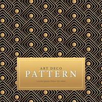 Golden Square Art Deco Pattern Pro Vector