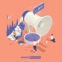 Market Research Isometric Illustration vector