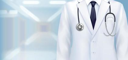 Doctors Uniform Realistic Background vector