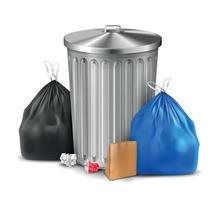 Trash Bin Bags Composition vector