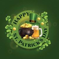 Happy Patricks Day Composition vector