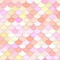 Fantasy mermaid scales seamless pattern vector