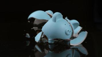 Piggy bank breaking in slow motion shot on Phantom Flex 4K at 1000 fps video