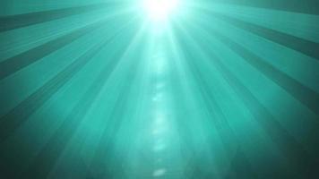 blauwe zonnestralen achtergrond lus animatie video