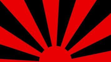 rode zonsopgang ronde cirkel lus animatie video