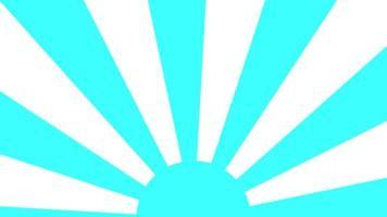 blauwe zonsopgang ronde cirkel lus animatie video