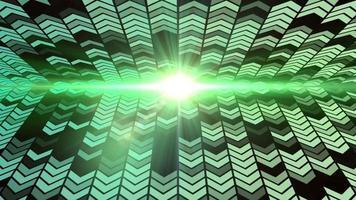 ha condotto l'animazione del ciclo di sfondo della freccia di luce verde video