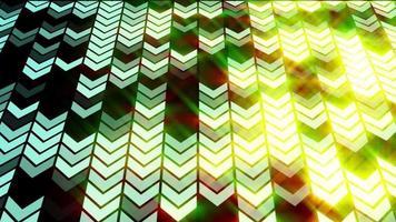 animazione del ciclo di sfondo della freccia luminosa a led video