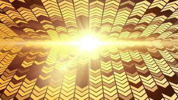 animazione del ciclo di sfondo della freccia di luce dorata a led video