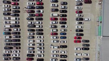 vista aerea del estacionamiento video