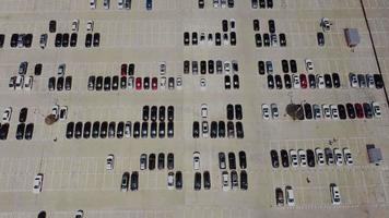 vista aérea do estacionamento video