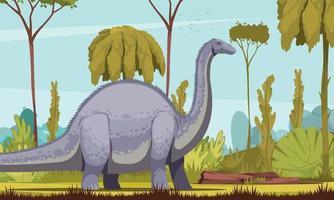 Dinosaurs Horizontal Illustration vector