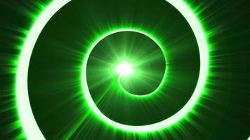 grön cirkel bakgrund loop animation video