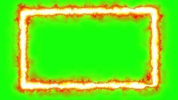 schermo verde animazione loop effetto frame fuoco video