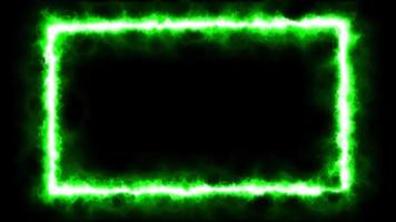 animazione loop effetto fiamma fuoco verde video