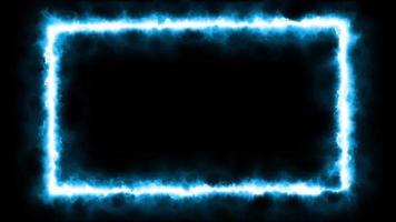 animazione loop effetto fiamma fuoco blu video
