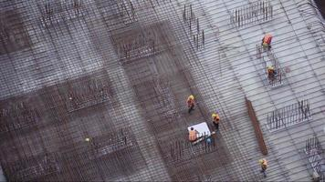 Construction workers on a building video