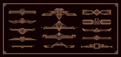 Art Deco Border Set vector