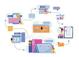 Planning And Scheduling Flowchart vector