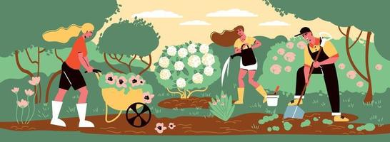 Garden Works Outdoor Composition vector