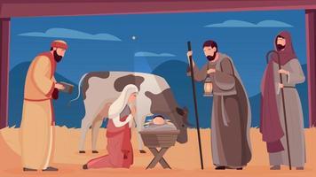 Jesus Birth Illustration vector