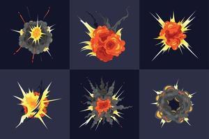 Bomb Explosion Design Concept vector