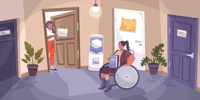 Social Justice Disabled Flat Composition vector