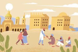 Ramadan Charity Flat Composition vector