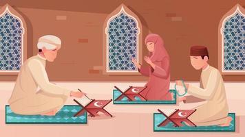 Koran Flat Illustration vector