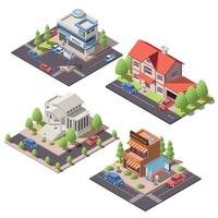 Modern City Compositions vector