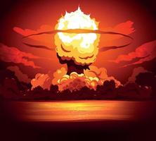 Bomb Explosion Fire Background vector