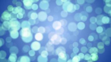 bokeh blauwe deeltje achtergrond lus animatie video