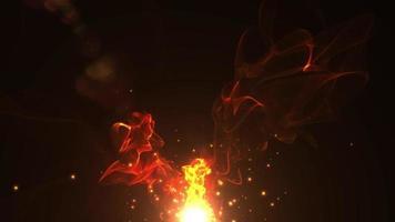 animation effet feu video