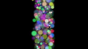 bokeh colorato particella linea sfondo loop animazione video