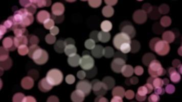 Bokeh rosso particella sfondo loop animazione video