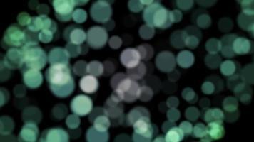 Bokeh verde particella sfondo loop animazione video