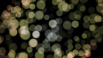 bokeh giallo particella sfondo loop animazione video