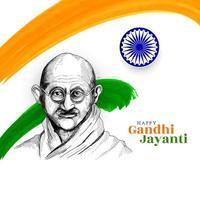 tema de la bandera tricolor india feliz fondo de celebración de gandhi jayanti vector