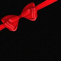 Beautiful Background with Silk Red Bow and Ribbon. vector