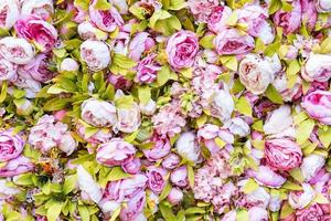 Amazing pink and white roses wall decoration, hand made, Sochi. photo