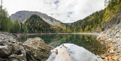 Mountain lake, Abkhazia, Beautiful Malaya Ritsa lake photo