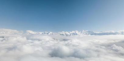 Aerial view from above of clouds photo
