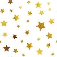 Gold Christmas glitter sparkles stars geometric seamless pattern vector