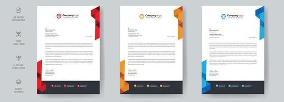 Corporate Business Letterhead Design Template vector