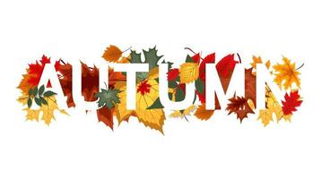 Abstract Vector Illustration Background with Falling Autumn Leaves