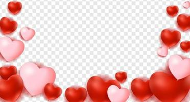 Hearts background, decorations for Valentine day vector