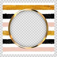 invitación con pintura dorada brillante arte texturizado y marco vector