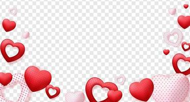 Hearts isolated, decorations vector